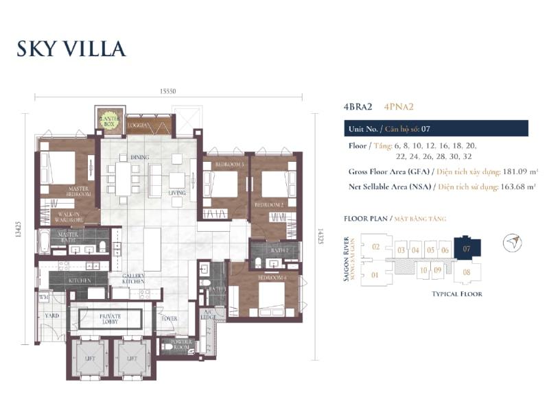 Sky Villa Layout