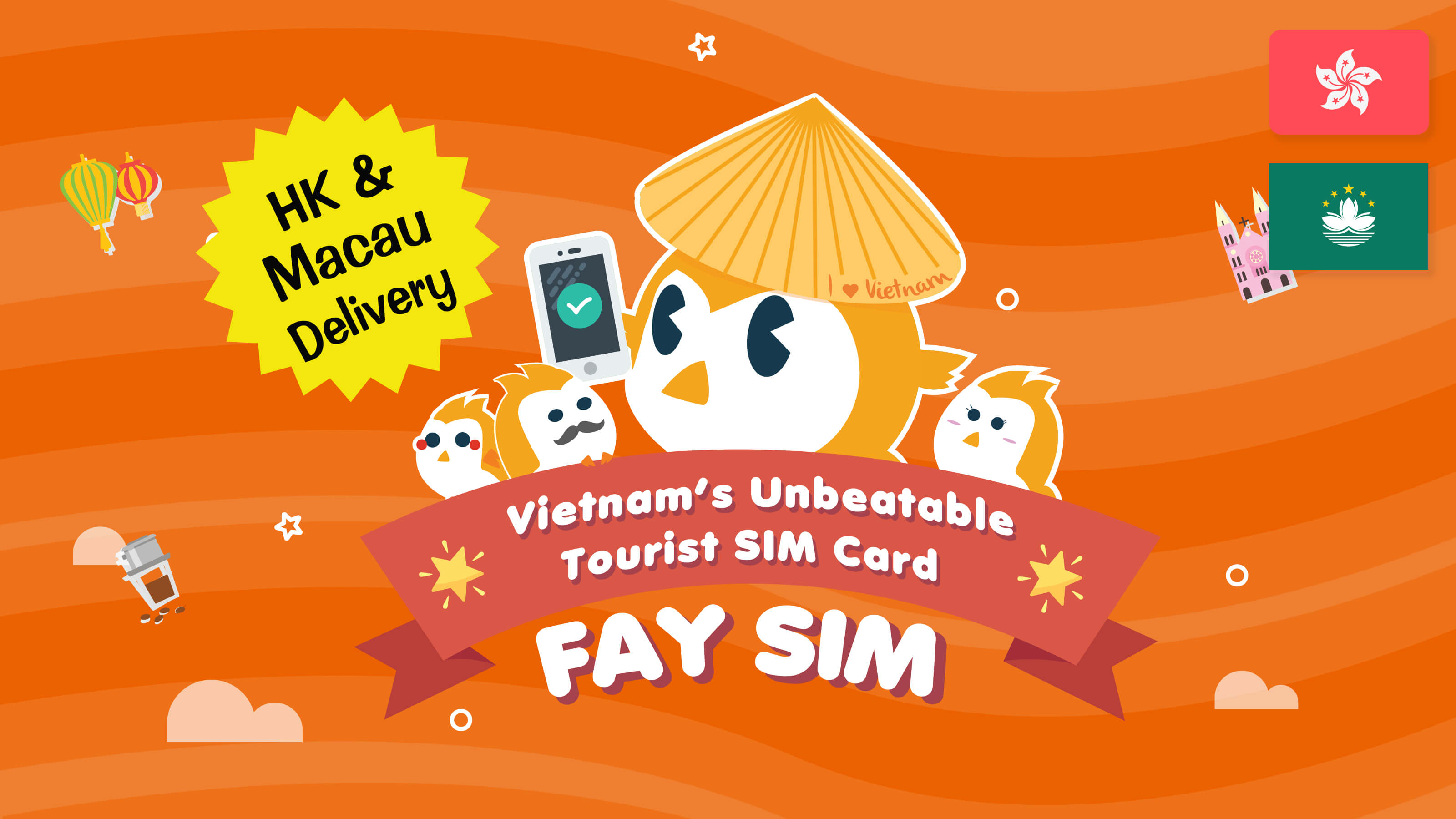 FAY SIM (HK/MO Delivery & HK Pick up)