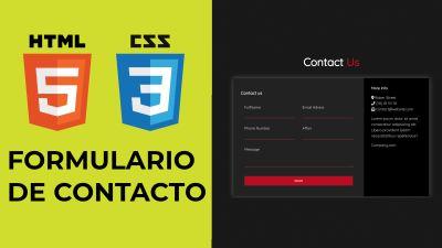 HTML & CSS Formulario de Contacto
