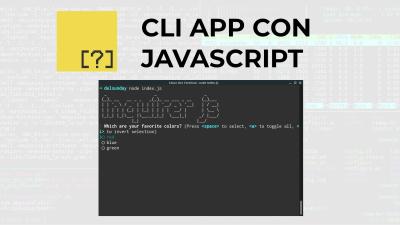 Inquirer.js | Modulo de Nodejs para crear CLI apps