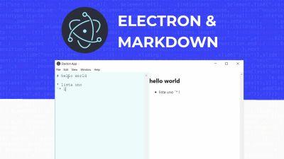 Electronjs, Convertidor markdown
