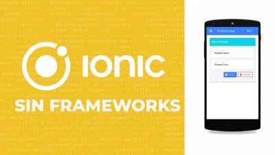 Ionic4 App sin Frameworks
