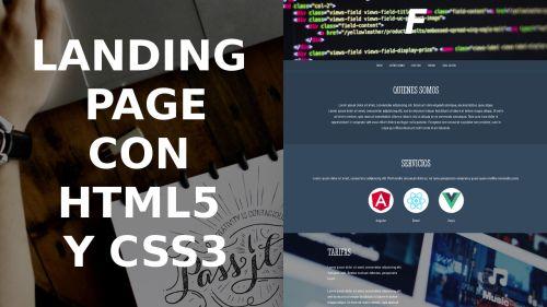 Landing Page con HTML5 Y CSS3, Desde Cero