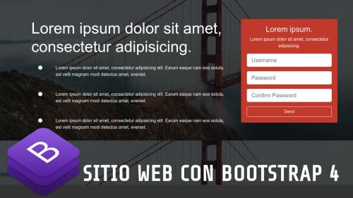 Landing Page con Bootstrap 4 y Font Awesome 5