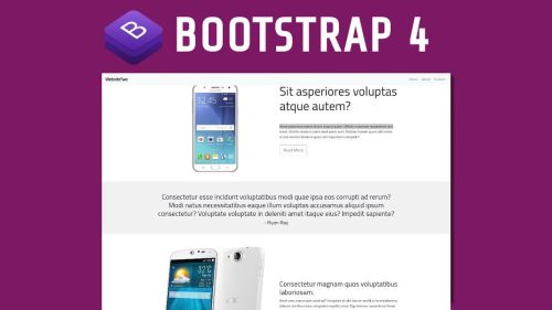 Bootstrap 4 Sitio Web Desde Cero, con Scroll Reveal y Smooth scrolling
