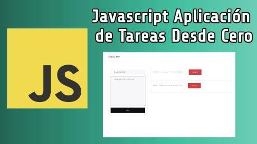 Javascript Aplicación de Tareas desde Cero
