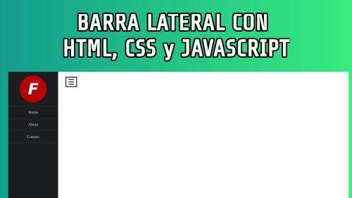 Barra Lateral con HTML, CSS y Javascript, Sidebar Animado