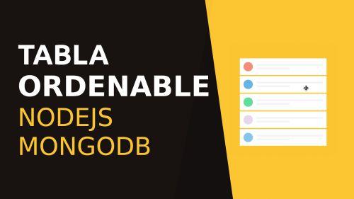 Nodejs y Mongodb Tabla Ordenable con jQuery UI
