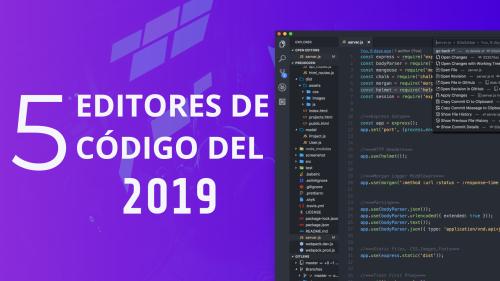 Top 5 editores de código del 2019