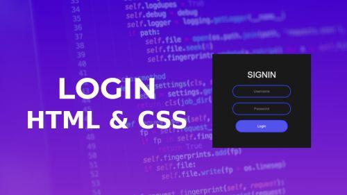 HTML & CSS Login, Ejemplo Practico
