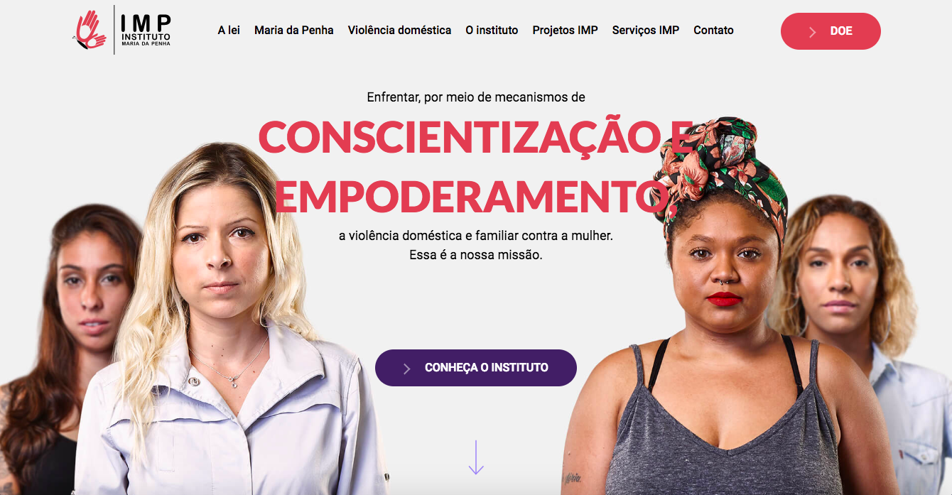 Capa do novo site do IMP