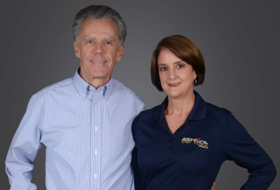 Jane and Tom McElhaney,  Franchisees of Our Town America