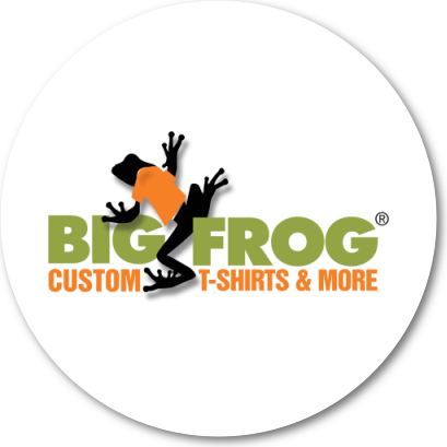 Big Frog Custom T-Shirts Logo