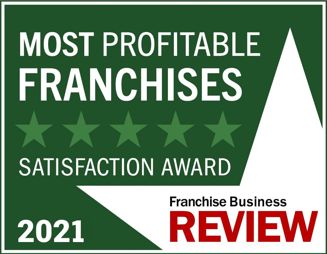 Most Profitable Franchise Satisfaction Award Graphic 2021 -dark green