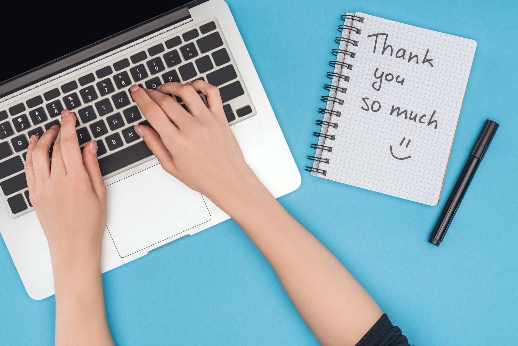 Showing Gratitude to Employees with a thank you note