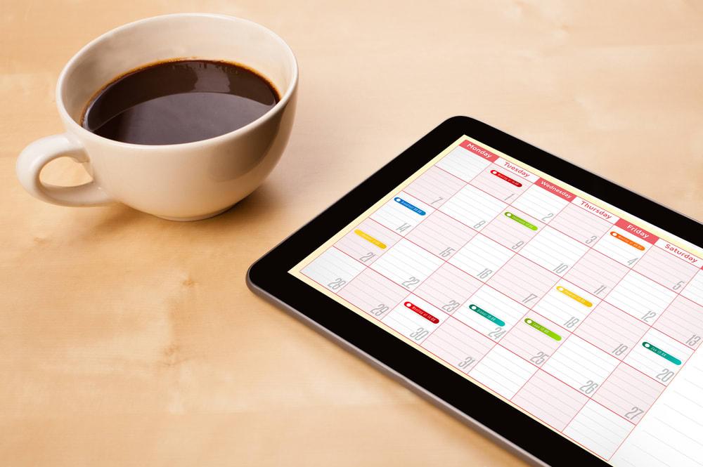 Content Calendar on Tablet