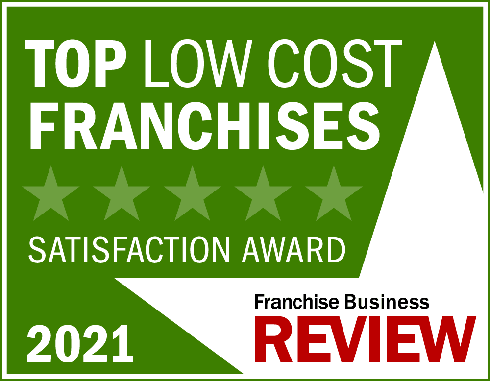 Top Low-Cost Franchise Satisfaction Award Graphic 2021 -light green