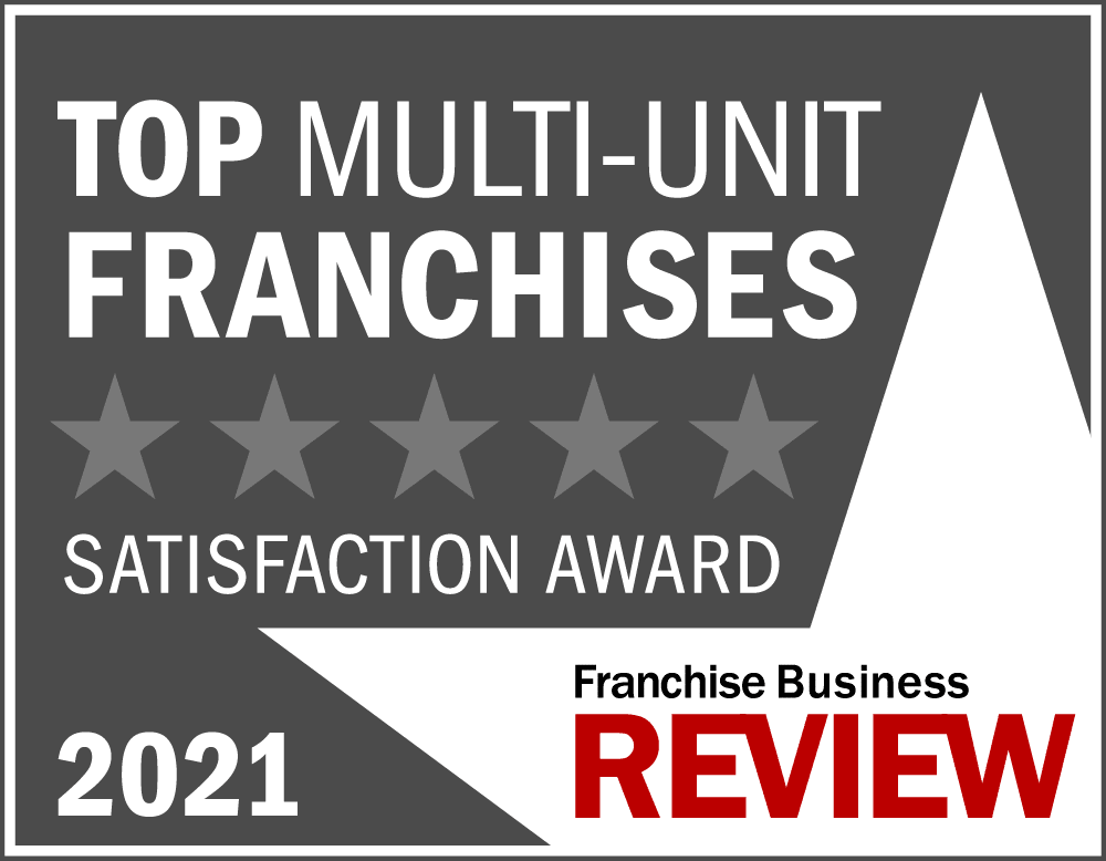 2021 Top Multi-Unit Franchise Award Graphic - grey, Franchise Business review awards