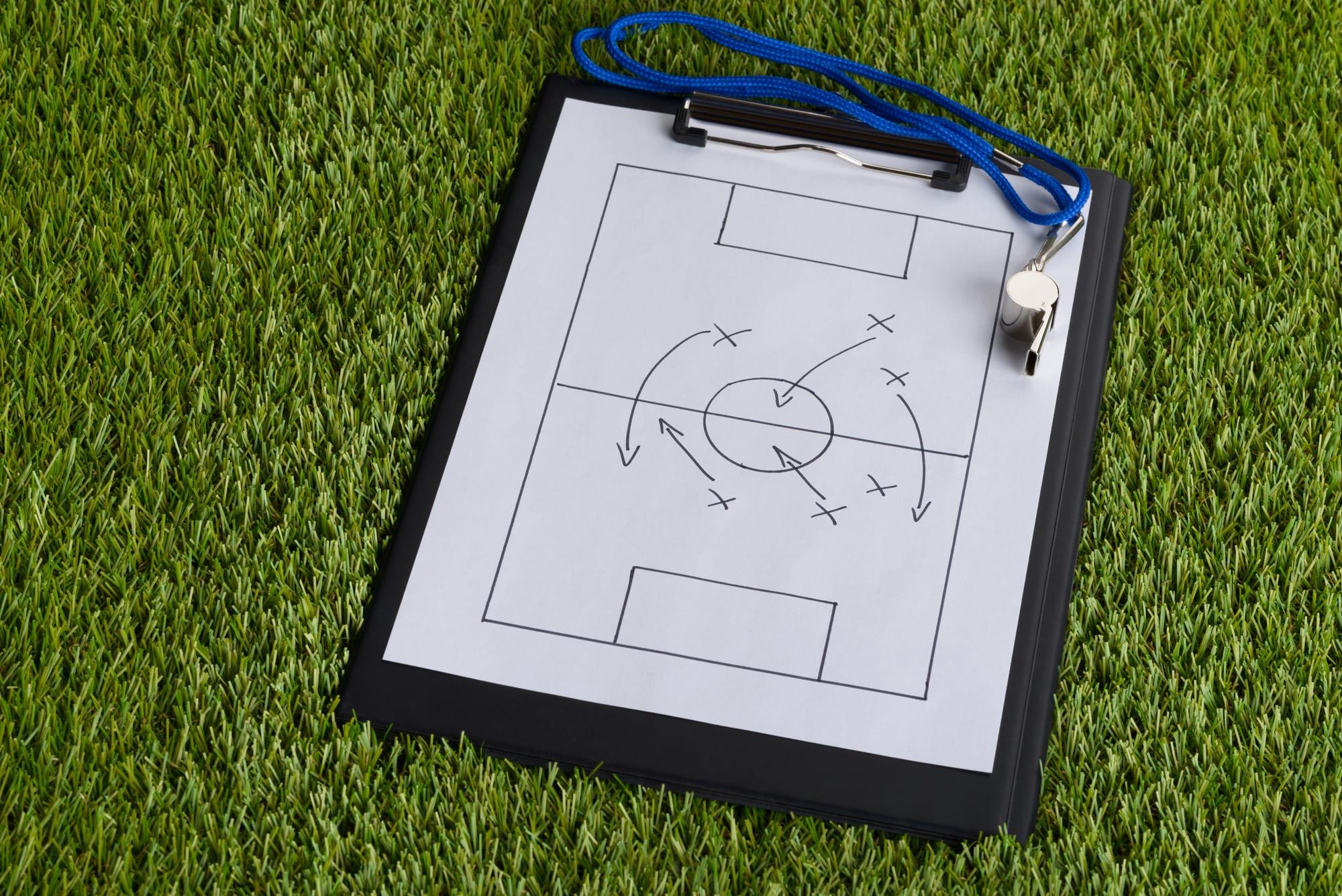Tactical soccer diagram