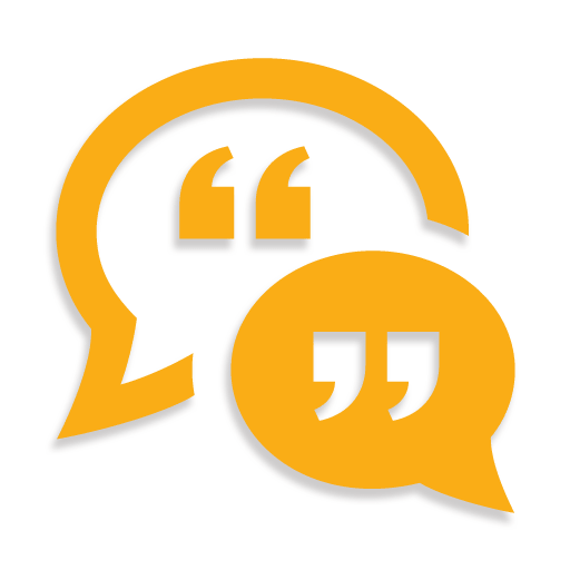 Yellow quote chat dialogue icons