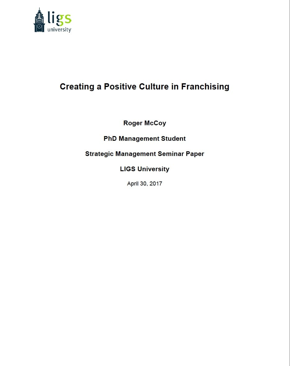Creating a Positive Culture in Franchising