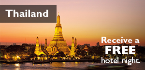 Thailand - Receive a free hotel night.