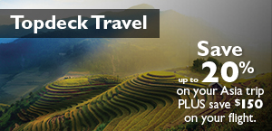 Save up to 20% on your Asia trip plus save $150 on your flight.