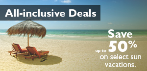 All-inclusive Deals. Save up to 50% on select sun vacations.