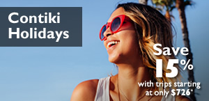Contiki HOlidays - Save 15% with trips starting at only $726*