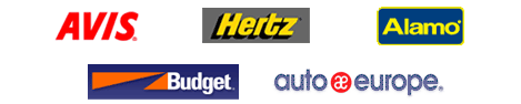 Flight Centre recommends renting from Budget, Avis, Hertz, and Alamo