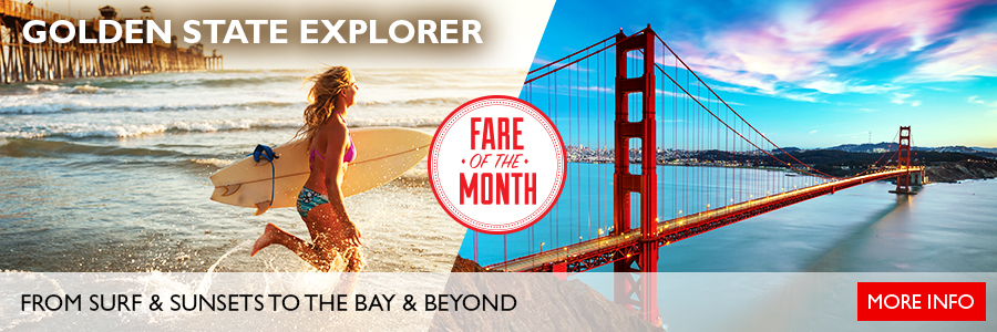 May's Fare of the Month - Discover California with the Golden State Explorer