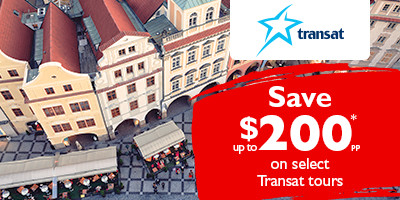 Save up to $200* on Transat Tours to Europe