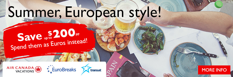 Summer, European Style! Save up to $200 per person to Europe!