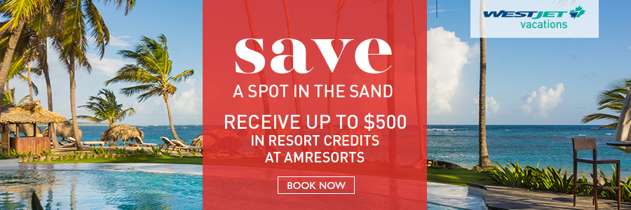 Receive up to $500 in resort credits at AMResorts with WestJet Vacations