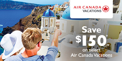 Save $150* on Air Canada Vacations to Europe