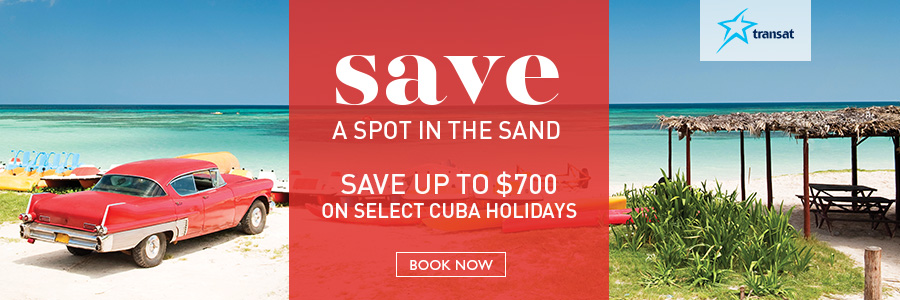 Save up to $700 on select Cuba holidays with Transat