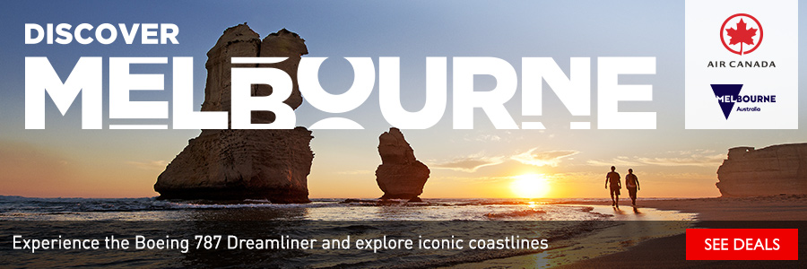 Discover Melbourne - Experience the Boeing 787 Dreamliner and explore iconic coastlines with Air Canada