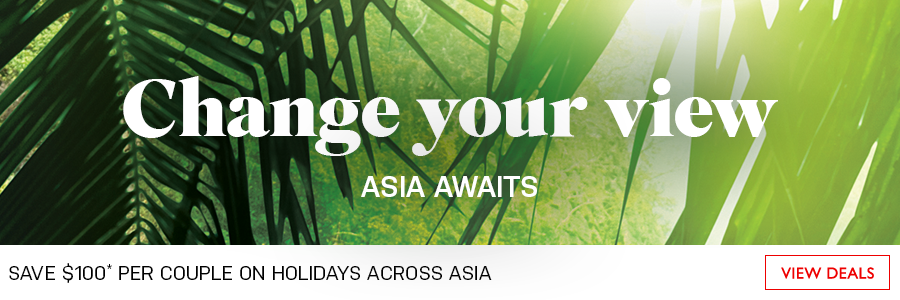 Save $100 per couple on holidays across Asia