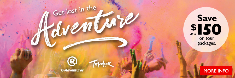 Get lost in the adventure and SAVE up to $150 on tour packages!