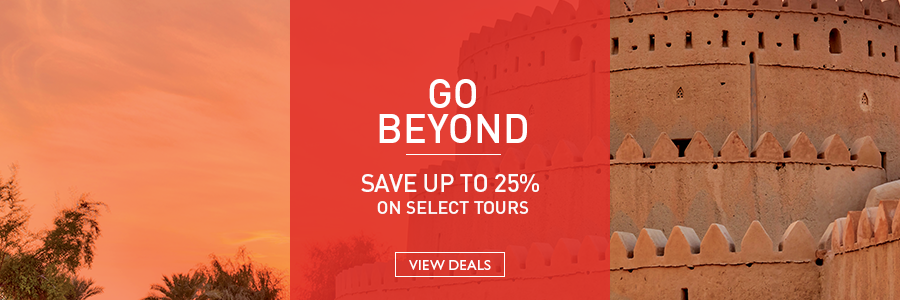 Go Beyond and save up to 25% on select tours