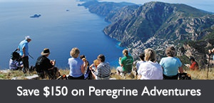 Save $150 per person on select Peregrine Adventures tours