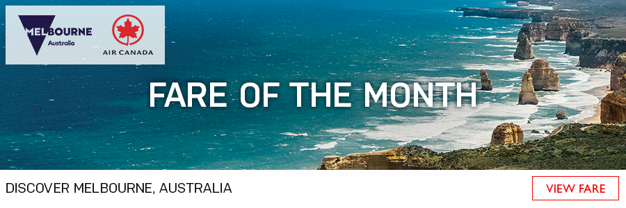Fare of the Month - Discover Melbourne with Air Canada