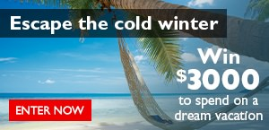 Contest - Enter to win $3000 towards a WestJet Vacation