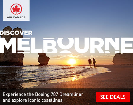 Discover Melbourne - Experience the Boeing 787 Dreamliner and explore iconic coastlines with Air Canada.