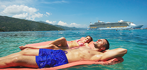 Save 60%* on the second guest<br>on select sailings<br>with Royal Caribbean International<br><br>Expires December 4, 2018