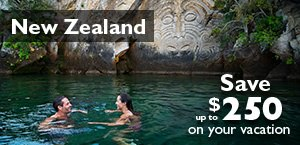 New Zealand - Save up to $250 on your vacation.