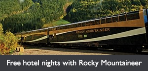 Free hotel nights with Rocky Mountaineer