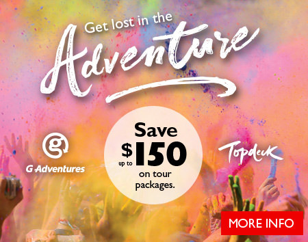 Get lost in the adventure - save up to $150 on adventure tour packages.