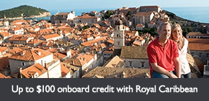 Receive up to $100 onboard credit on select Royal Caribbean International sailings. Offer expires March 28, 2018.