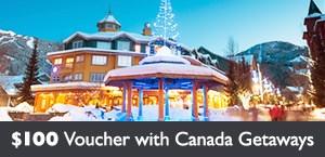 Receive $100 future travel voucher with Canada Getaways